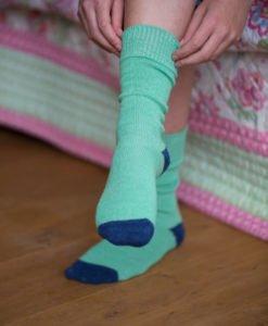 alpaca contrast socks