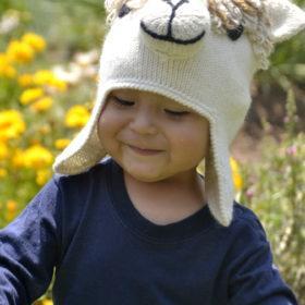 kid's hat in alpaca
