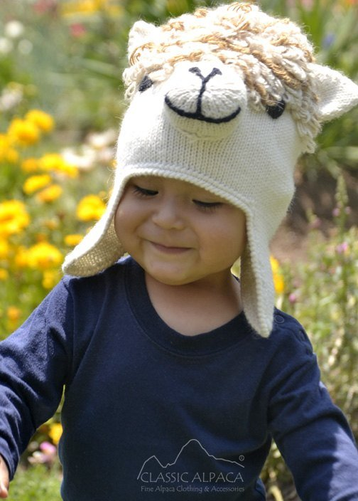 kid's hat in alpaca