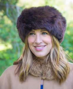luxury fur hat