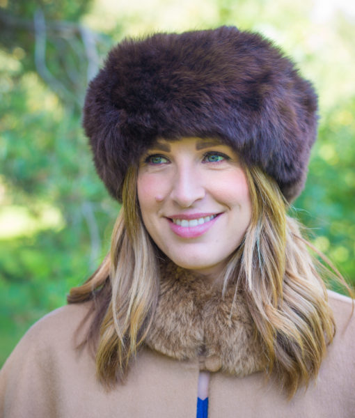 luxury fur hat