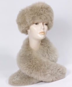 fur stole in alpaca