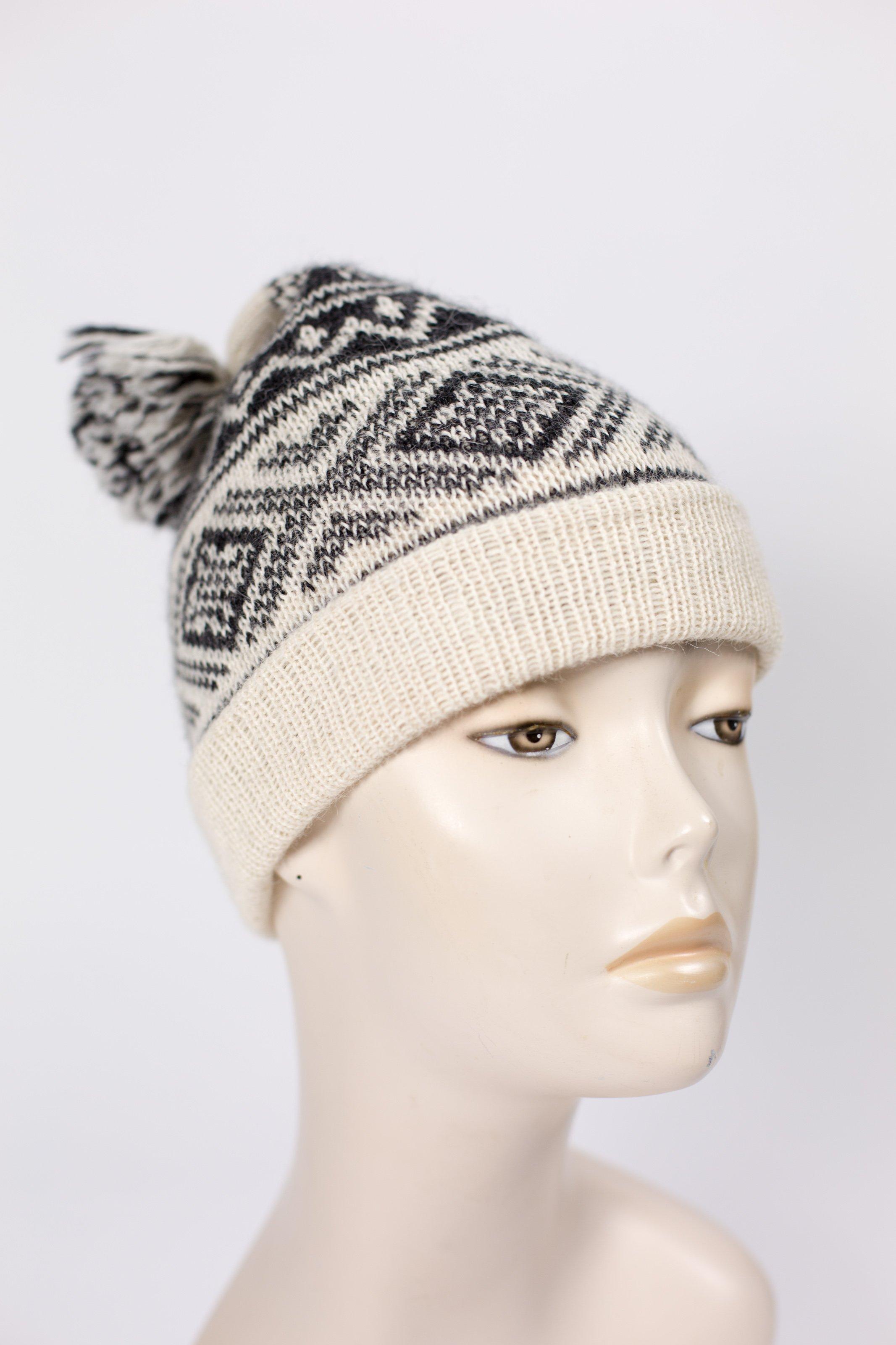 Fair Isle knitted hat in quality alpaca - Alpaca Annie, last few in ...