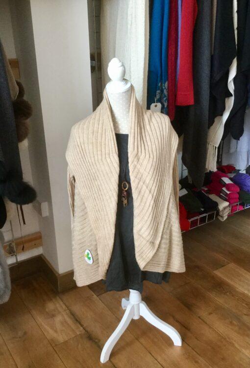 jacket cardigan sand