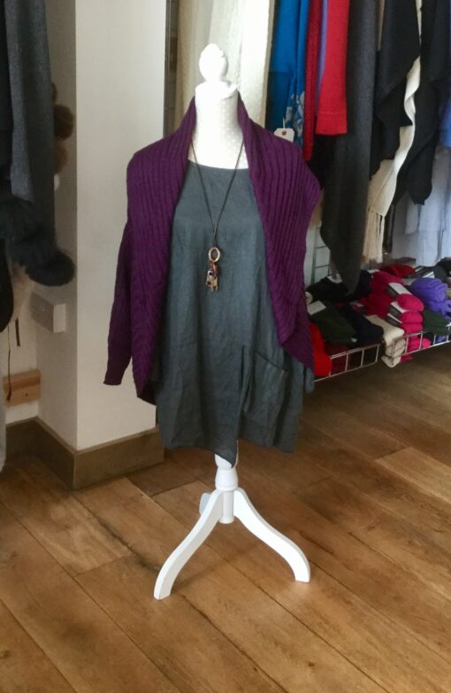 jacket cardigan purple