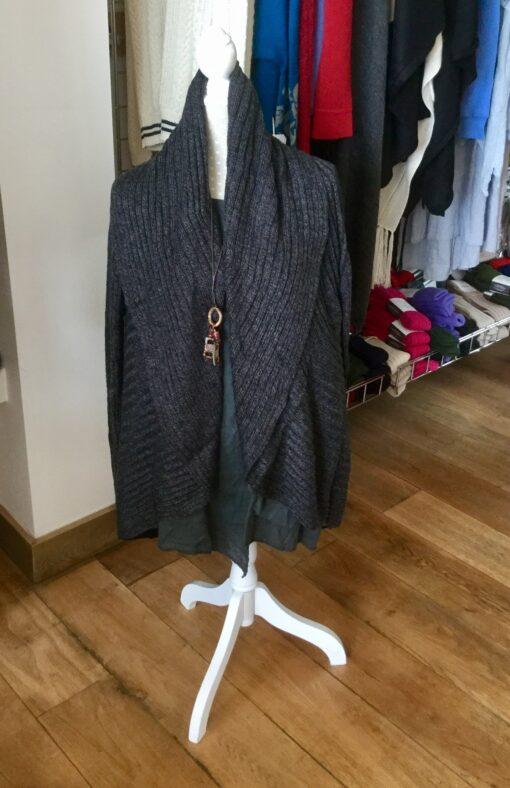 jacket cardigan charcoal