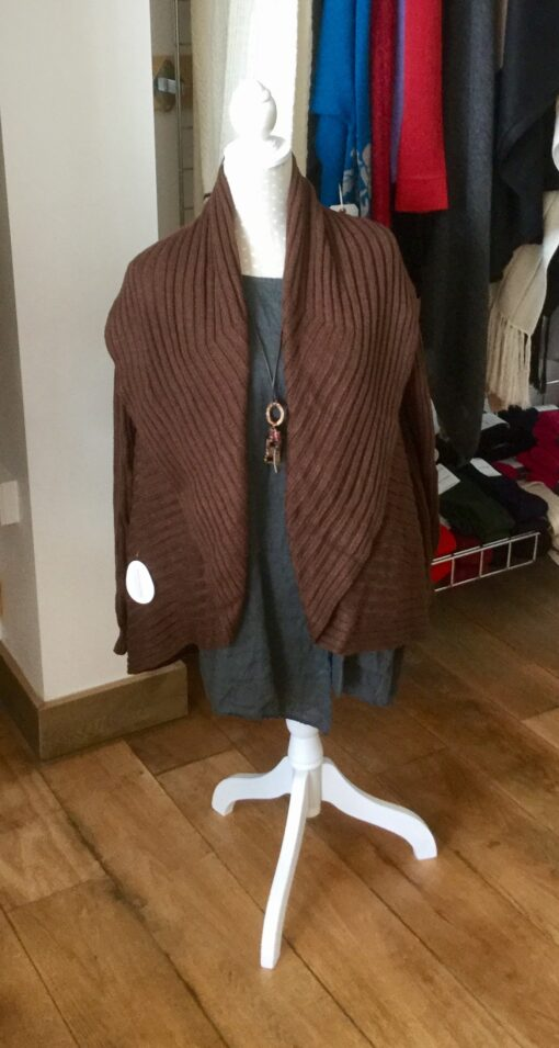 jacket cardigan brown
