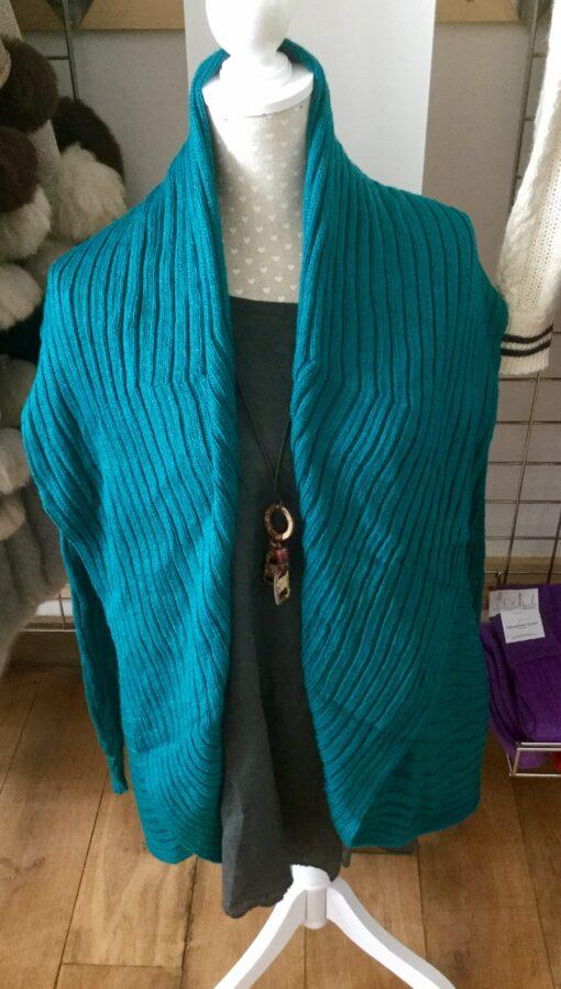 jacket cardigan aqua