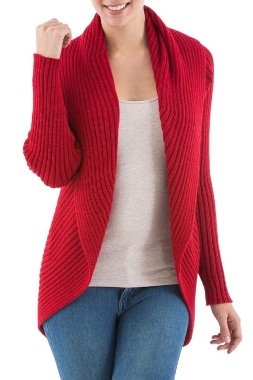 jacket cardigan red