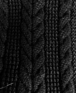 cable knit scarf black