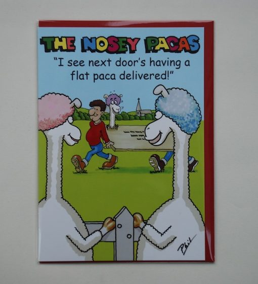 greeting cards nosey pacas