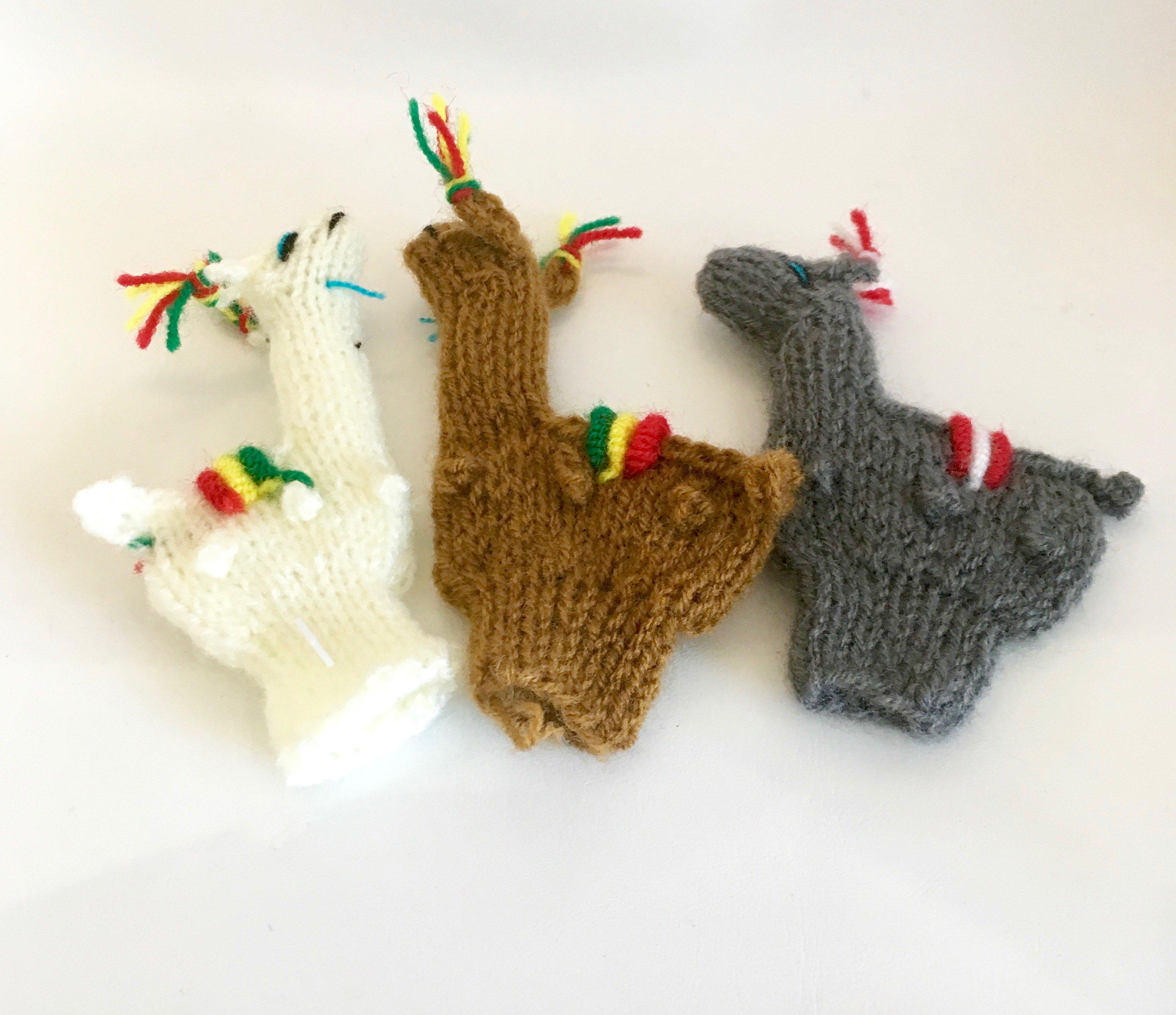 finger puppets - alpaca