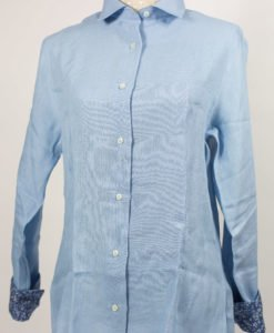 ladies fitted blouse in alpaca & linen