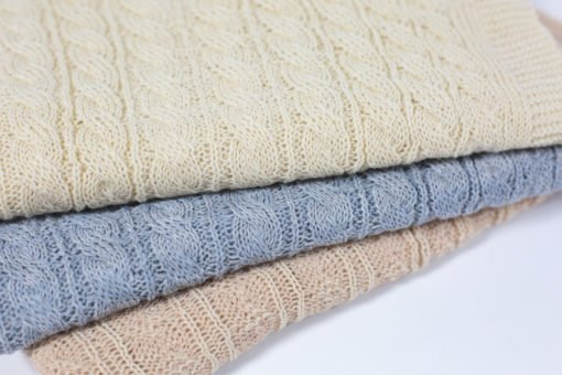 cable alpaca baby blanket